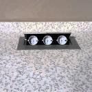 GTV Lighting - Контакт за вграждане в мебел метал акуминий AE-PB03GS-53 контакт тип шуко 3бр. (1)