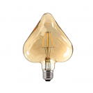 ACA LIGHTING - LED крушка димираща кехлибар Сърце FILAMENT E27 6W 2700K 680lm HEART6WWDIMAM