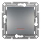 SCHNEIDER ELECTRIC - Девиаторен ключ с глим лампа 16А стомана Аsfora EPH1500162