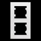 MAKEL - Двойна вертикална рамка Karea бяло 56001707
