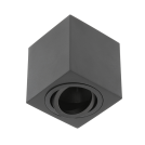 GTV Lighting - Луна за открит монтаж квадратна черна AVEIRO OS-AV8085KW1-00