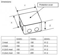 LEGRAND - 54003 Конзола за мазилка 2х4 модула за подова кутия (2)
